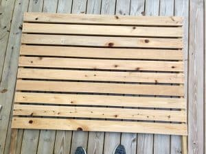 wooden ac fence finished