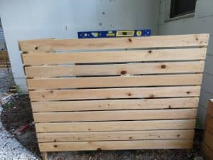 wooden ac fence