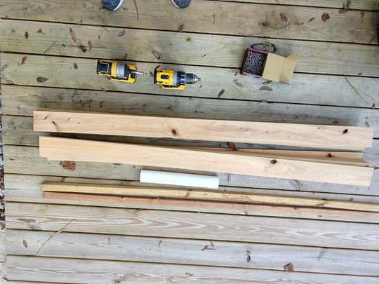tools needed to make wooden ac fence