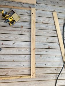 line up slats for wood ac fence