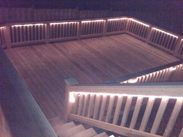 backyard deck lighting
