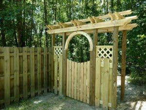 pressure treated garden gate