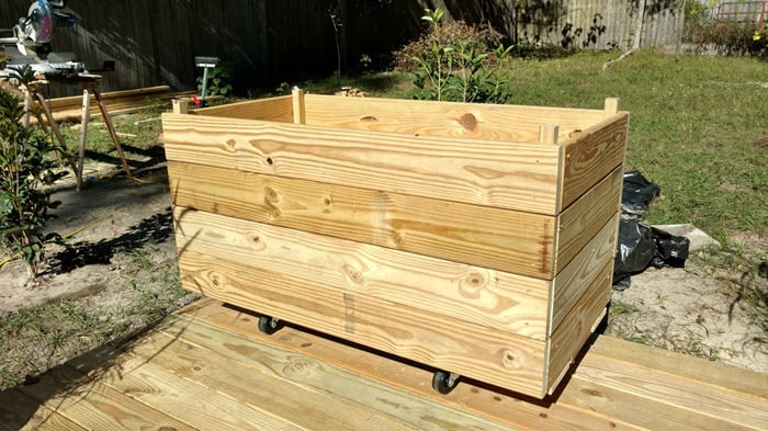 raised backyard planters