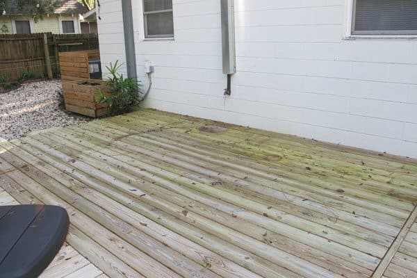 getting stains off deck