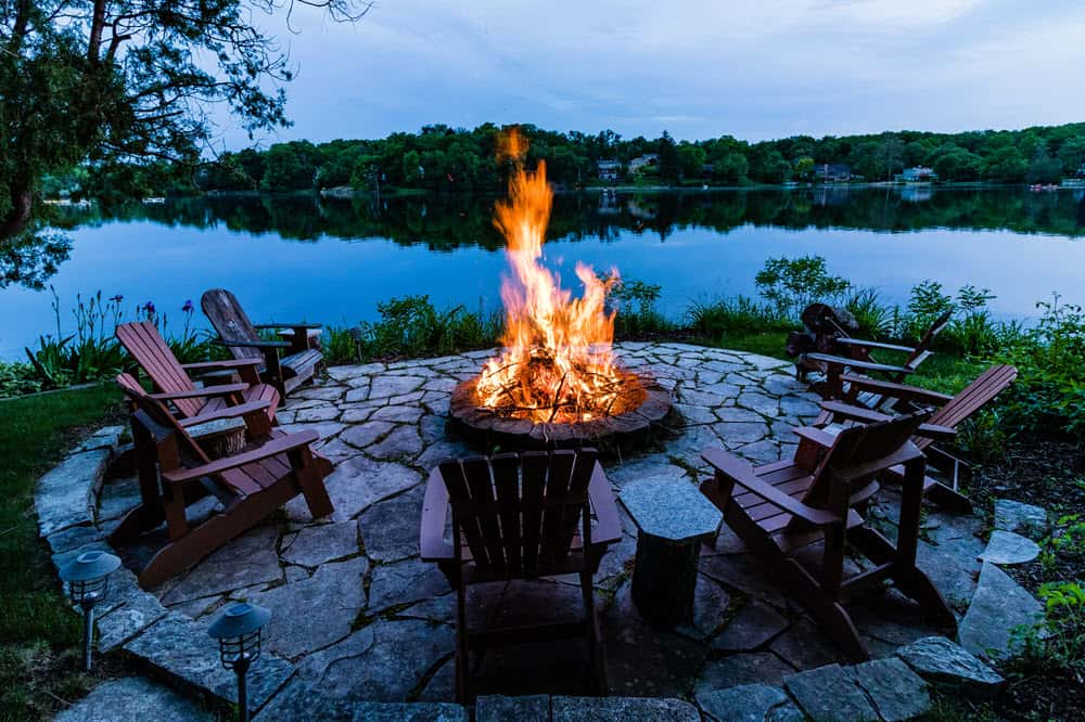 how to put out a fire pit