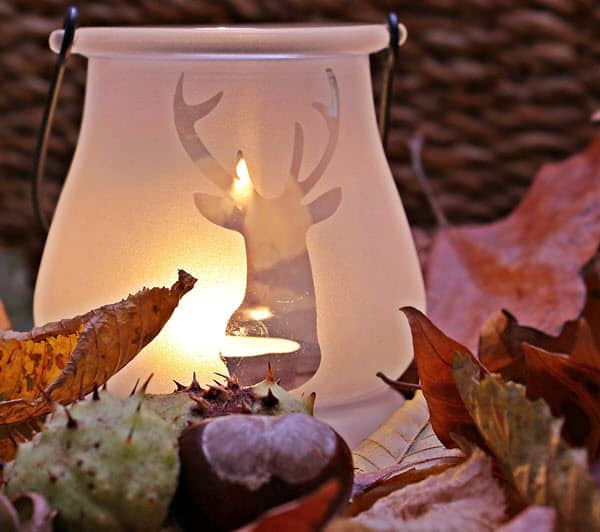 silhouette deer light centerpiece