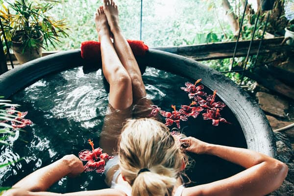 can you use hot tub water for plants?