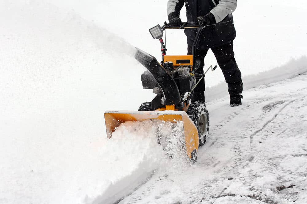 using snowblower