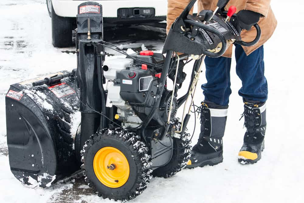 starting snowblower