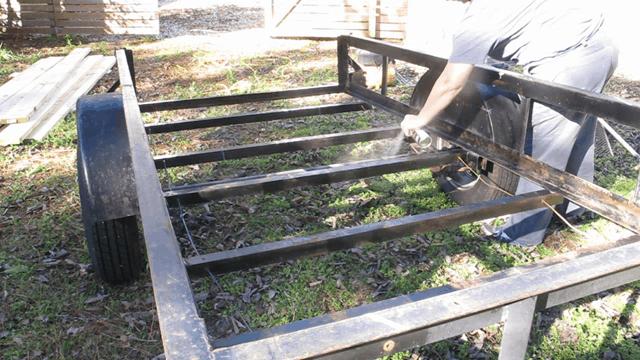 adding rustoleum to trailer frame