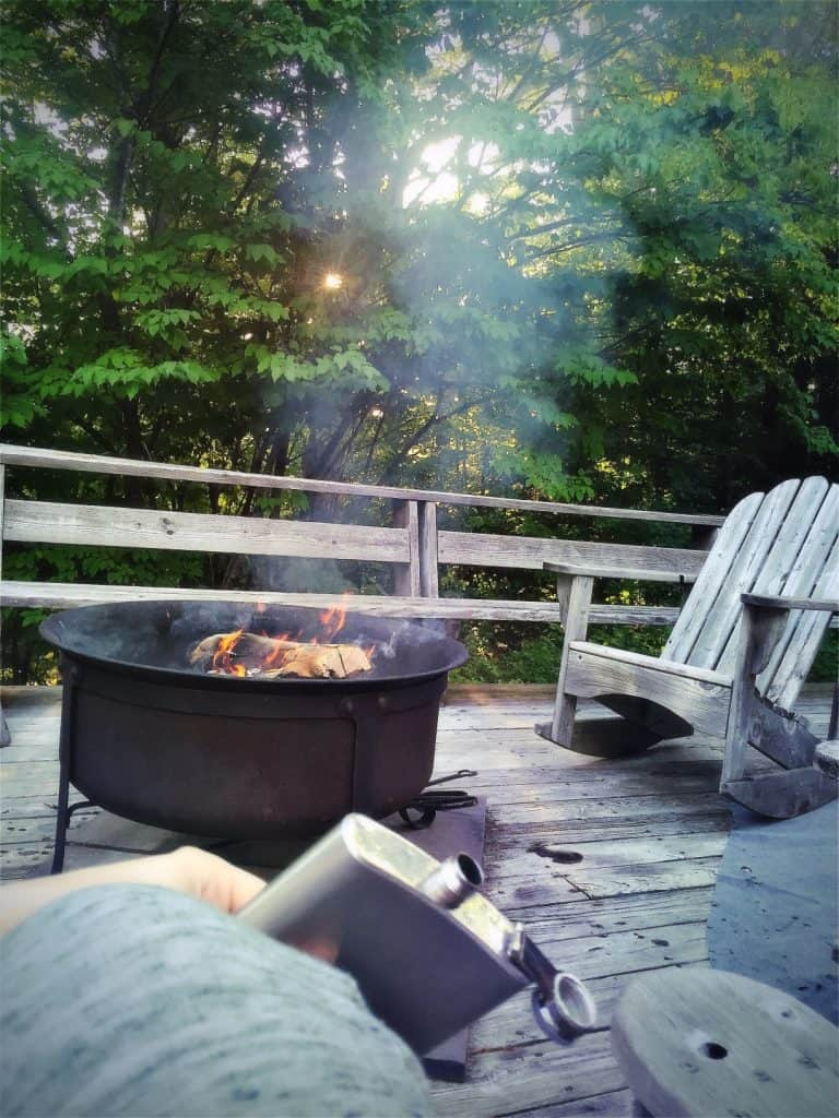 Can You Put A Fire Pit On A Wood Deck And Should You Backyardscape