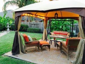 shade backyard with gazebo