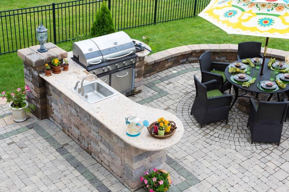 outdoor kitchen cost