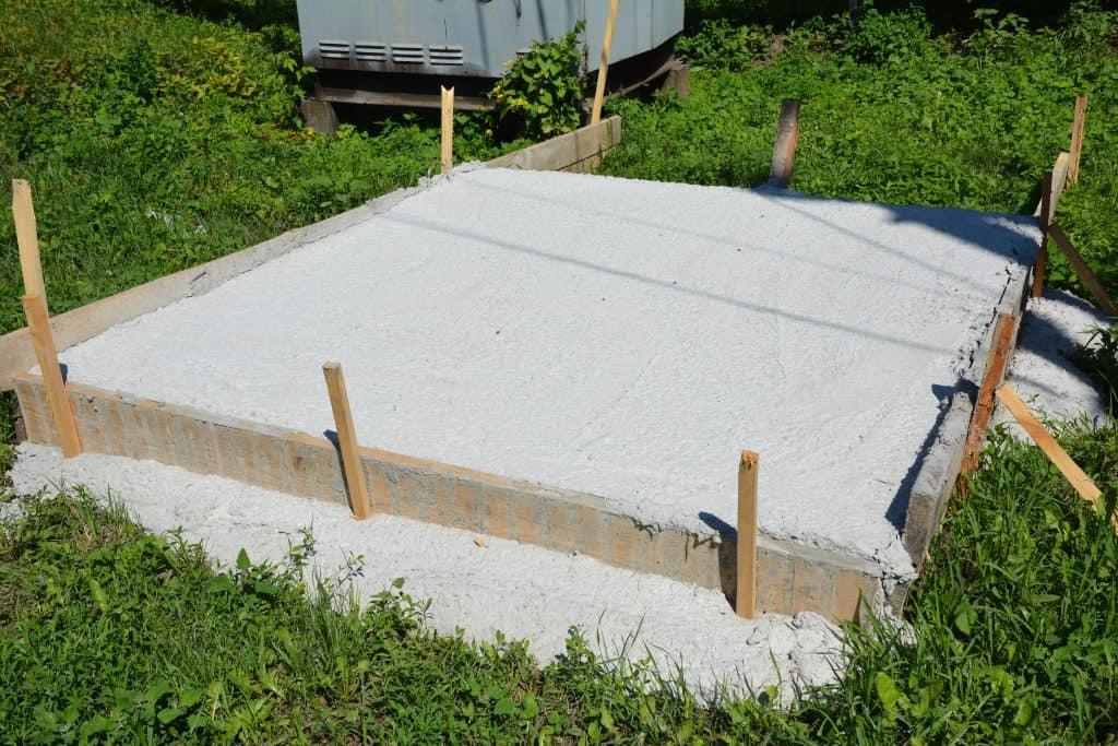 Pour A Concrete Slab For Hot Tub