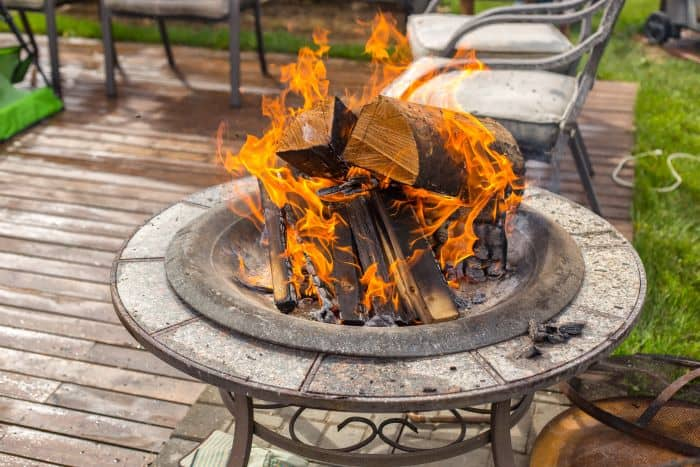 Can You Put A Fire Pit On Wood Deck, Can You Put An Outdoor Fire Pit On A Wood Deck