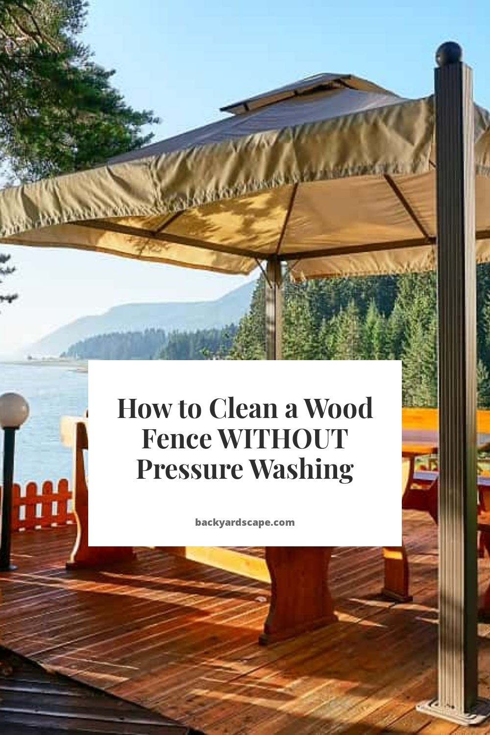 How to Clean a Wood Fence WITHOUT Pressure Washing