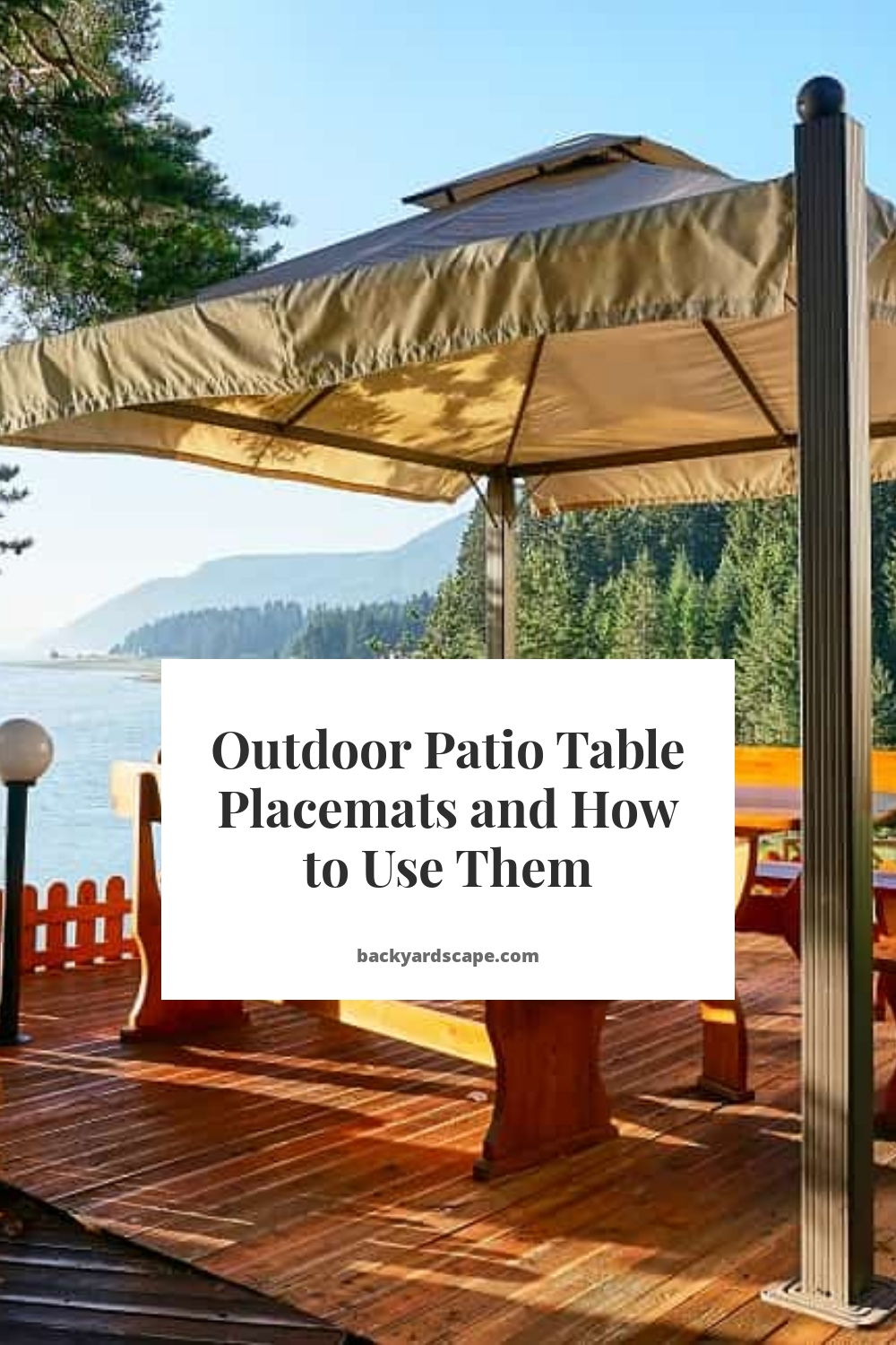 Outdoor Patio Table Placemats and How to Use Them