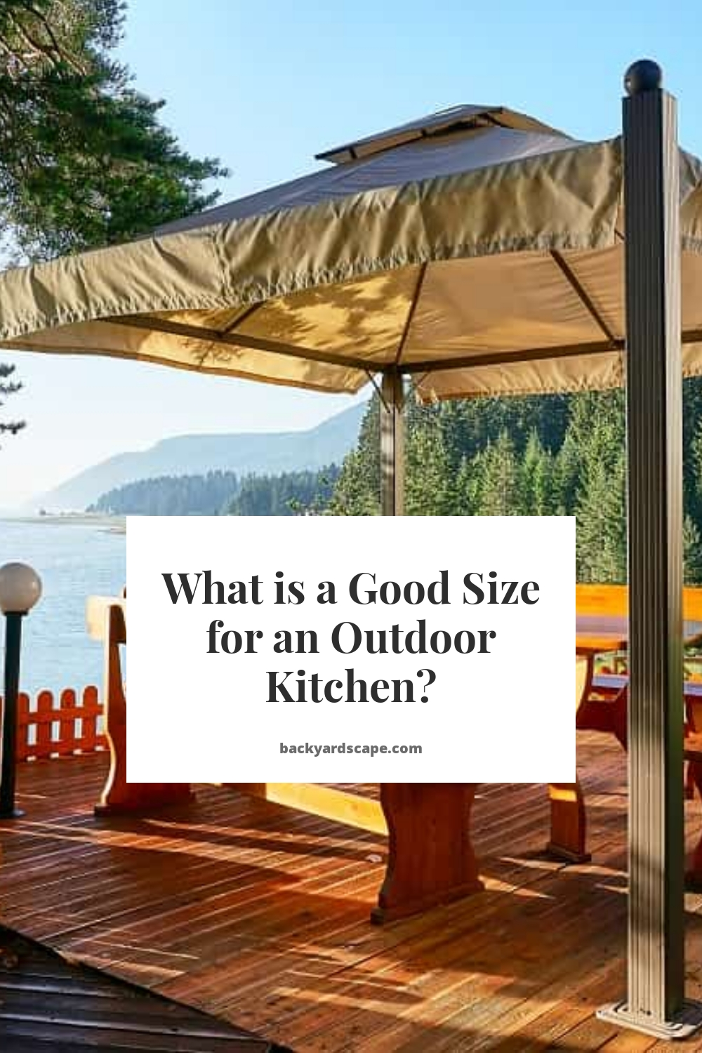 What is a Good Size for an Outdoor Kitchen?