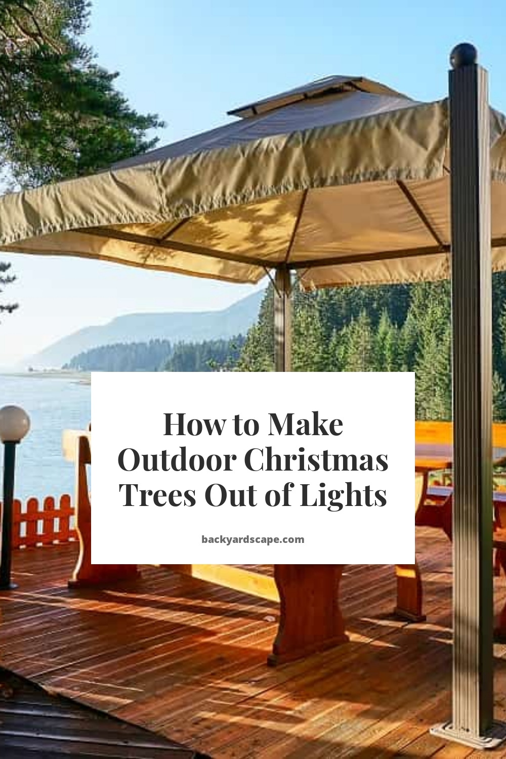 How to Make Outdoor Christmas Trees Out of Lights