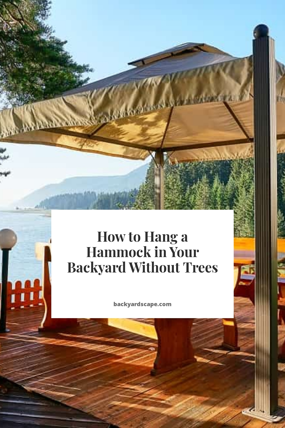 How to Hang a Hammock in Your Backyard Without Trees