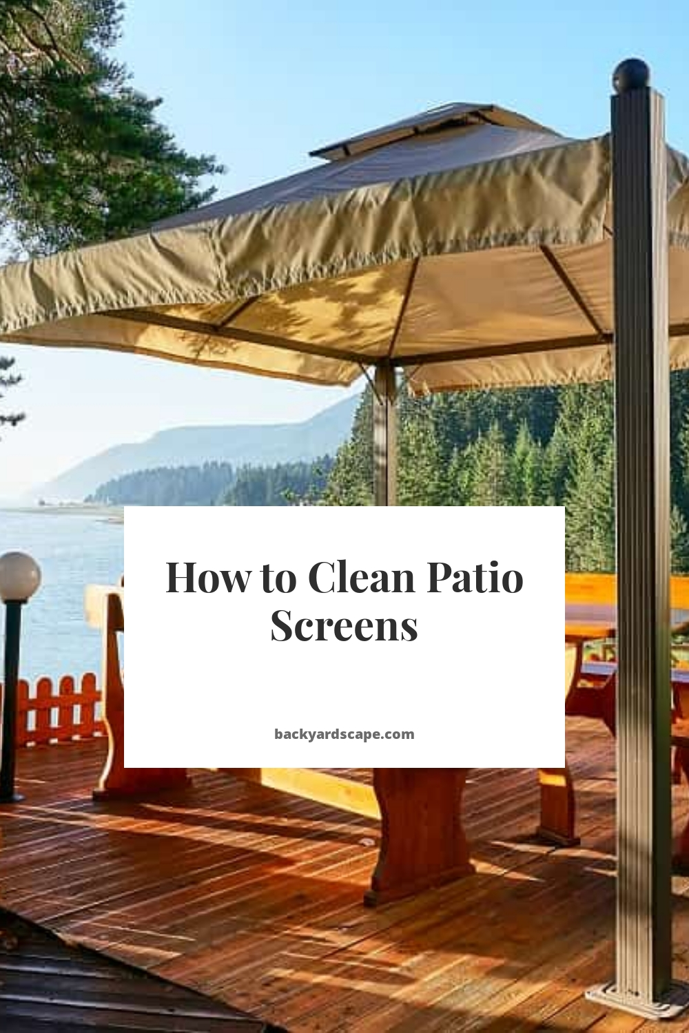 How to Clean Patio Screens